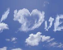Amour de nuages Photographie stock libre de droits
