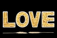 Amour de pâtes Photographie stock