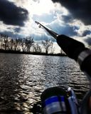 Amour de pêche Photographie stock libre de droits