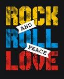 Amour de paix de rock Photo libre de droits