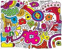 Amour de paix divers illustration stock