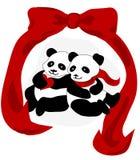 Amour de panda Image libre de droits