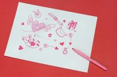 Amour de papier Photos libres de droits