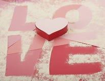 Amour de papier de cuisine Photographie stock libre de droits