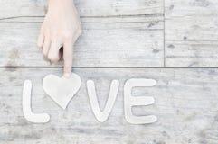 Amour de papier de mot Image libre de droits