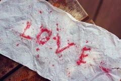 Amour de papier de mot Image stock