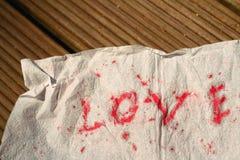 Amour de papier de mot Photos libres de droits