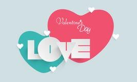 Amour de papier des textes pour la célébration de Saint-Valentin Photos stock