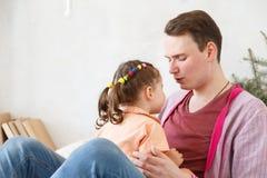 Amour de part de père et de fille Image stock