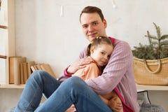 Amour de part de père et de fille Photographie stock libre de droits