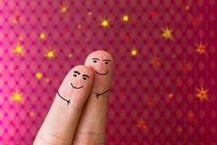 Amour de personnes de doigt Photographie stock