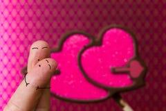 Amour de personnes de doigt Photos libres de droits