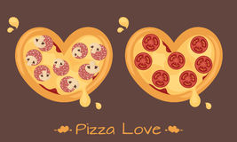 Amour de pizza images libres de droits