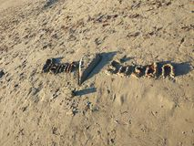 Amour de plage de côté d'Antalya Manavgat Photographie stock libre de droits