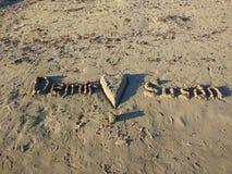 Amour de plage de côté d'Antalya Manavgat Images stock