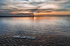 Amour de plage de Dieu Photos libres de droits