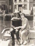 Amour de plongeur de mer profonde Photographie stock libre de droits