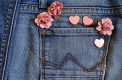 Amour de poche de jeans Photo stock