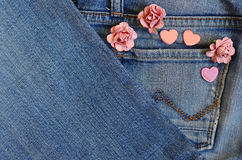 Amour de poche de jeans Photos stock