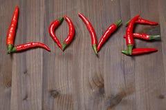 Amour de poivre de piment Photo libre de droits