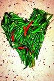 Amour de poivre de piment Photos libres de droits