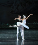 Amour de prince Siegfried par un lac swan de Lakeside-ballet de princesse Ojta-The Swan de charme magique Photo stock