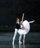 Amour de prince Siegfried par un lac swan de Lakeside-ballet de princesse Ojta-The Swan de charme magique Photographie stock