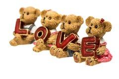 Amour de prise d'ours de nounours Image stock