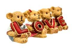 Amour de prise d'ours de nounours d'Abtract d'isolement Photographie stock