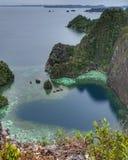 Amour de Puncak, Raja Ampat Images libres de droits