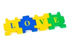 Amour de puzzle Photographie stock libre de droits