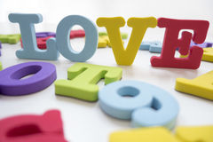 AMOUR de puzzle d'alphabet anglais Image libre de droits