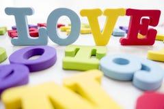 AMOUR de puzzle d'alphabet anglais Photo libre de droits