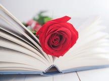 Amour de romance de Rose et de livre Image libre de droits