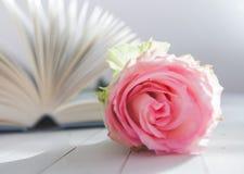 Amour de romance de Rose et de livre Images libres de droits