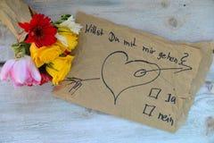 Amour de roses jaunes Images libres de droits