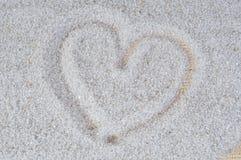 Amour de sable de coeur, Images stock