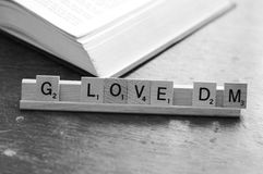 Amour de Scrabble Photos libres de droits
