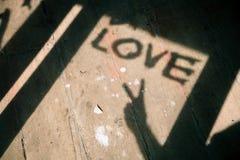 Amour de silhouette, effet de couleur de vintage Photo libre de droits