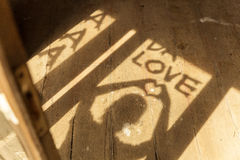 Amour de silhouette, effet de couleur de vintage Image stock
