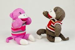 Amour de singe de chaussette Image stock