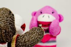 Amour de singe de chaussette Image libre de droits