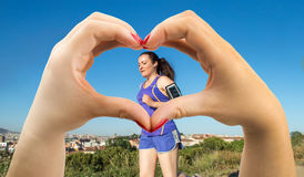 Amour de sport Photos stock