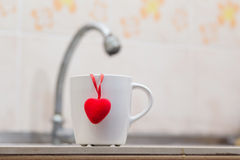 Amour de tasse Photos libres de droits