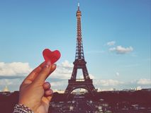 Amour de Tour Eiffel Image stock