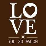 AMOUR de Valentine Day vous dirigez tellement l'image Photos libres de droits