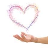 Amour de Valentine en main Photos stock