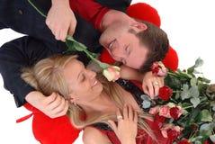 Amour de Valentine, jeunes adultes Images stock