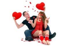 Amour de Valentine, jeunes adultes Photos libres de droits