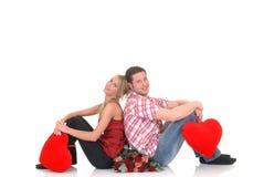 Amour de Valentine, jeunes adultes Photo stock